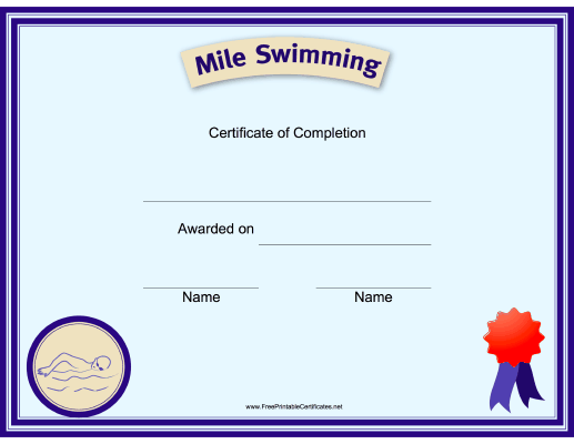 Scout Mile Swim