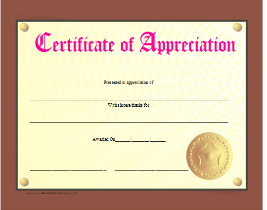 Appreciation certificate printable gidiyedformapolitica appreciation certificate printable yelopaper Choice Image