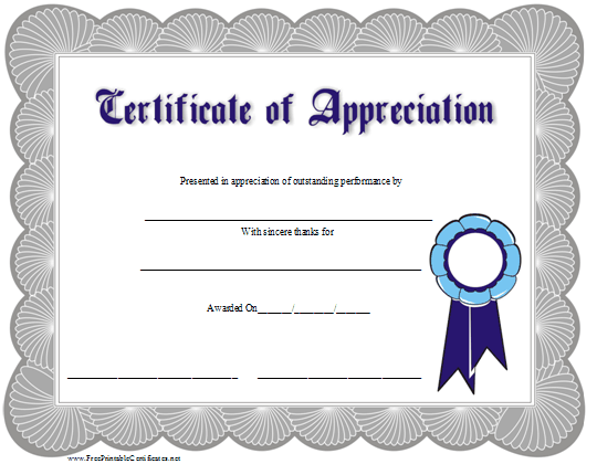 volunteer appreciation certificate template free .