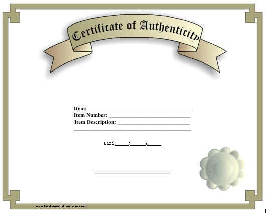 Dubuque blog certificate of authenticity certificate of authenticity yadclub Images