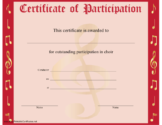 Choir Participation