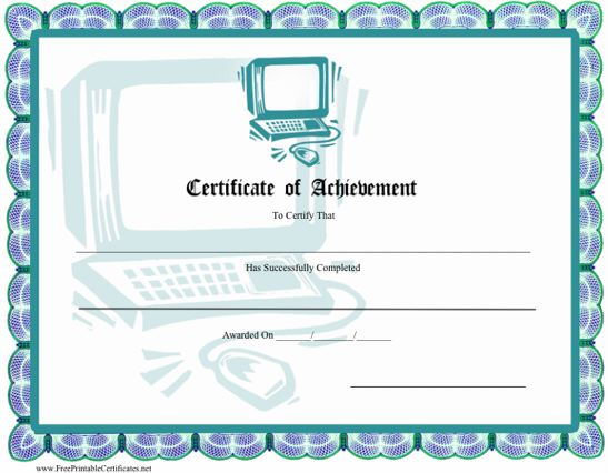 View Full Size | More certificate printable border |