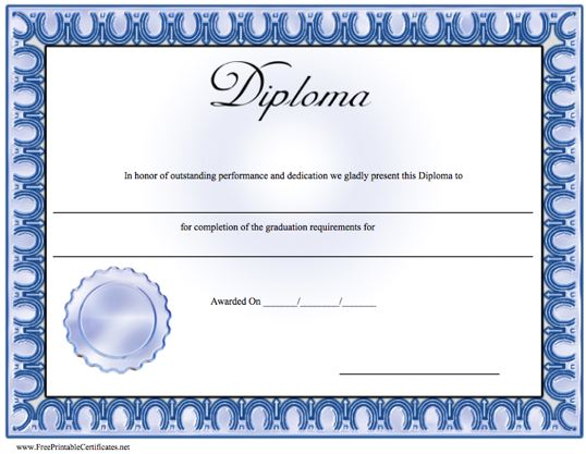 Ged certificate template