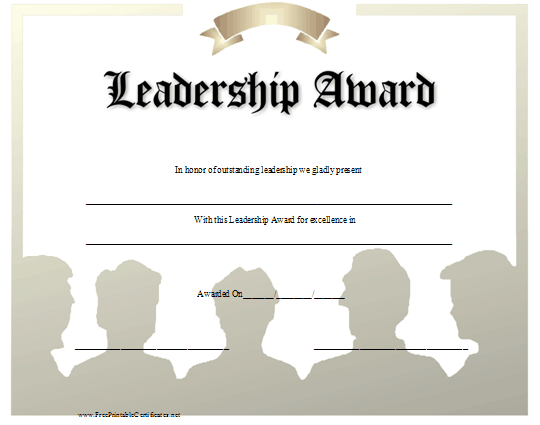 Leadership award certificate template 28 images certificate leadership award certificate template leadership quotes for awards quotesgram yadclub Choice Image