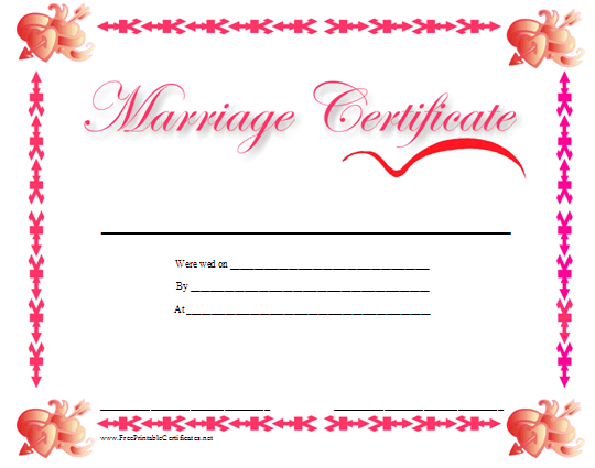 Marriage certificate picture for Freemarriage records