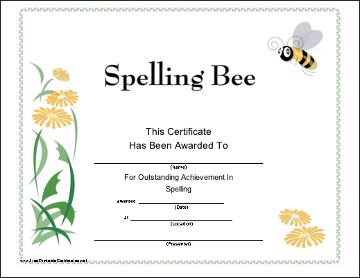 Spelling Bee Certificate Clip Art Images & Pictures - Findpik