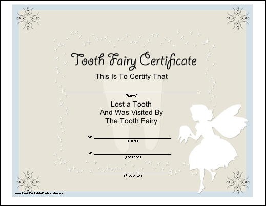 image about Free Printable Tooth Fairy Receipt titled Absolutely free Printable Teeth Fairy Letters, Monthly bill, Certification and