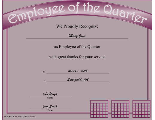 Employee Of The Quarter Certificate Pictures to Pin on Pinterest ...