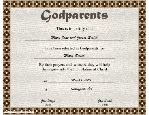 Godparent certificate uk images godparent certificate uk name godparents certificate name godparents certificate source abuse report yadclub Gallery