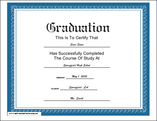Sample high school diplomas fieldstation sample high school diplomas yelopaper Images