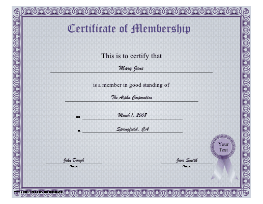 search results for �free printable membership certificate