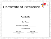 Certificates of Excellence - Free Printable Certificates