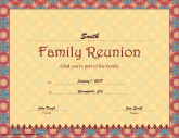 Certificates of participation free printable certificates for Free printable family reunion certificates