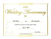 Anniversary certificates free printable certificates for Wedding anniversary certificate template