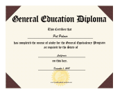Agile image for printable ged certificate
