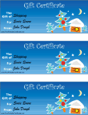 Christmas Gift Certificate with Tree